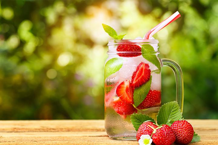 Eau à la fraise